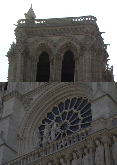 notre dame close up