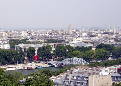 View from the Eiffel Tower/Passerelle Debilly