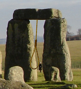 "A Stonehenge ""Gallows"""